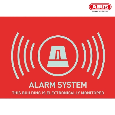"AU1314 Warning Sticker ""Alarm"" 148X105mm"