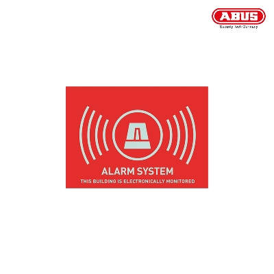 "AU1315 Warning Sticker ""Alarm"" 74X52,5mm"
