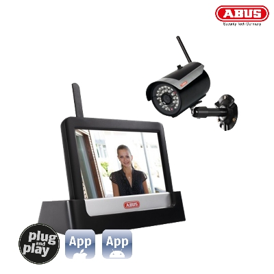 TVAC16000B 7 Home Video Surveillance Set Touch & App
