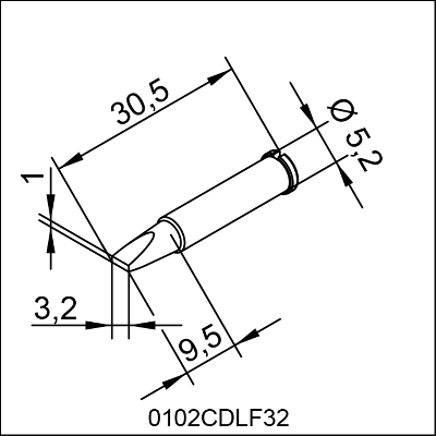 0102CDLF32 ERSA ΑΝΤΑΛΛΑΚΤΙΚΟ ΑΙΧΜΗ 3,2mm