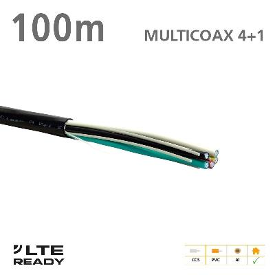 211011 ΚΑΛΩΔΙΟ MULTICOAX 4+1 ΜΑΥΡΟ