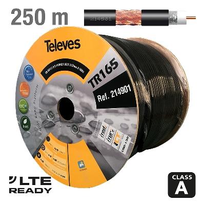 214901 ΚΑΛΩΔΙΟ RG11 TR-165 Cu/Cu Black PE 250m