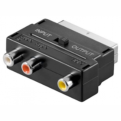 50122 Adapter 3-RCA to Scart