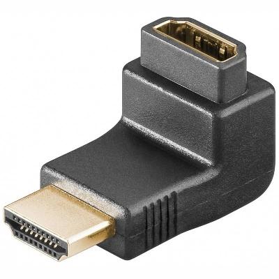 68782 HDMI angled adaptor, HDMI female-HDMI male, gold-plated, 90deg