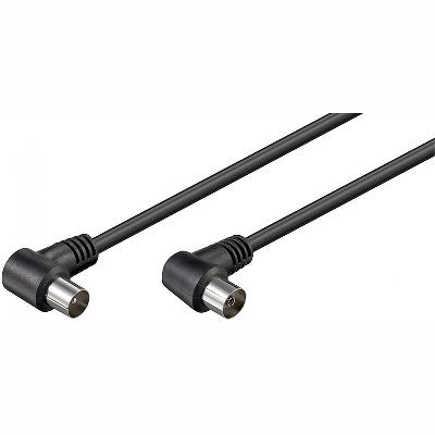 11525 Cable TV 1,5m M/F, black, angle