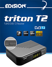 EDISION TRITON T2! BRAND NEW FULL HD DVB-T2 RECEIVER FROM EDISION!